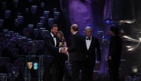David Beckham presents the award