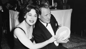 With actress Irene Worth