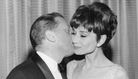 With Audrey Hepburn