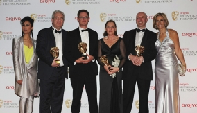 The winners with the presenters