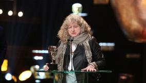 Jenny Beavan at the podium