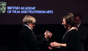 Victoria Wood presents the Award
