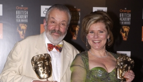 With Vera Drake director Leigh