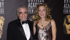 Scorsese with Gillian Anderson