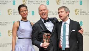 Gugu Mbatha-Raw, Michael Keaton  and Martin Freeman
