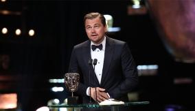 Leonardo DiCaprio accepts the Leading Actor award
