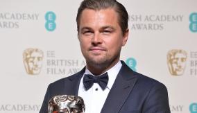 Leonardo DiCaprio in the press room