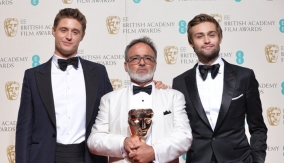 With Max Irons and Douglas Booth
