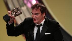 Tarantino accepts his award