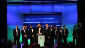 The winners collect their award