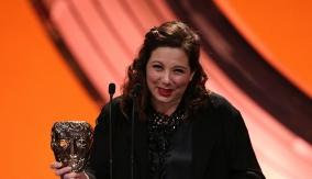 Tessa Ross accepts her award