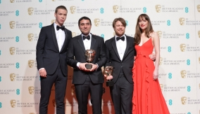 With Will Poulter and Dakota Johnson