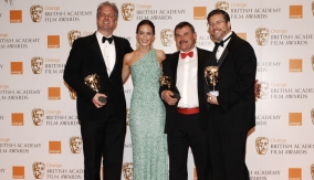 The winners with Emily Blunt